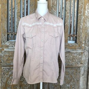 PANHANDLE ROUGH STOCK WESTERN SHIRT PEARL L